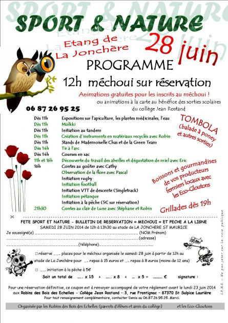 Sport et nature programme